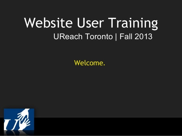 UReach drupal-basic-training-2013