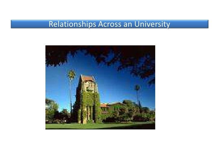 Relationships Across an University<br />