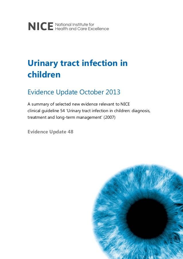 """Evidence Update"" sobre infección urinaria en niños"