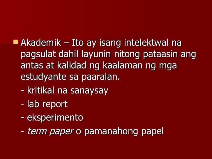 ulat panlaboratoryo essays Free essays on halimbawa ng term paper sa filipino tungkol sa edukasyon for students use our papers to help you with yours 1 - 30.