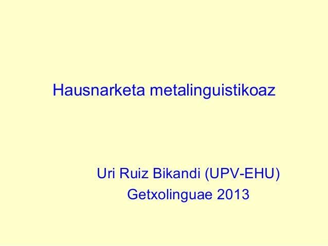 GETXOLINGUAE 2013 URI RUIZ BIKANDI