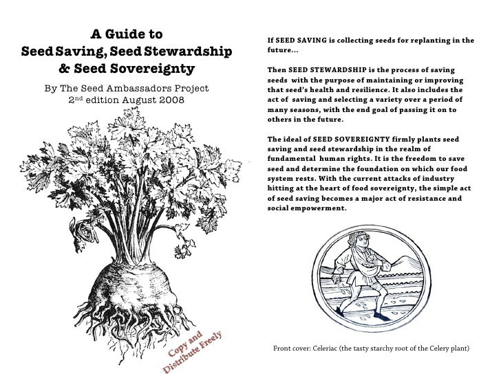 A Guide to                  If SEED SAVING is collecting seeds for replanting in theSeed Saving, Seed Stewardship        f...