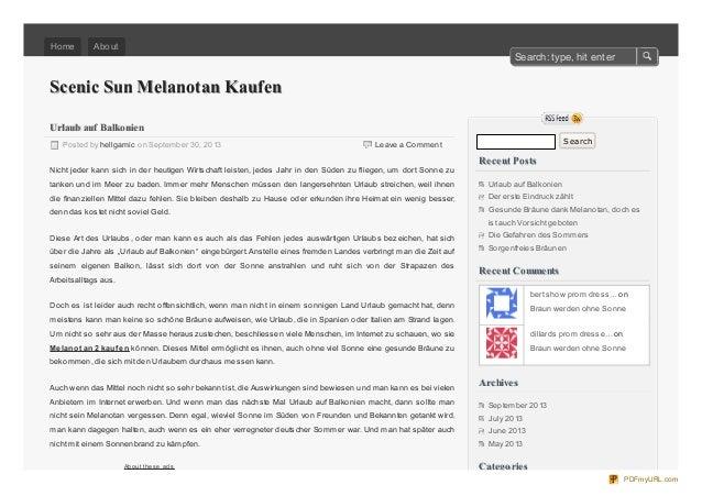 Scenic Sun Melanotan KaufenScenic Sun Melanotan Kaufen Leave a Comment Urlaub auf BalkonienUrlaub auf Balkonien Posted by ...