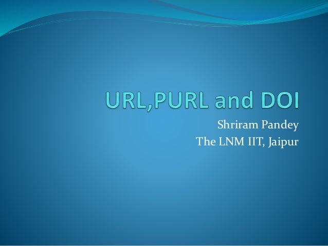 Url,purl and doi