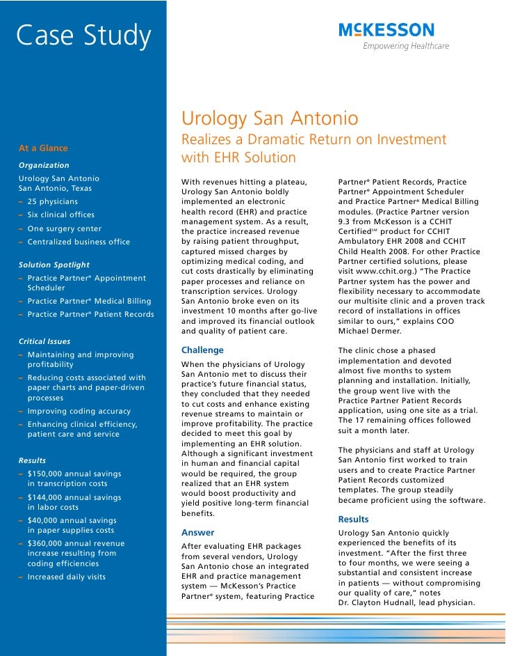 Urology San Antonio Realizes a Dramatic Return on Investment with EHR Solution