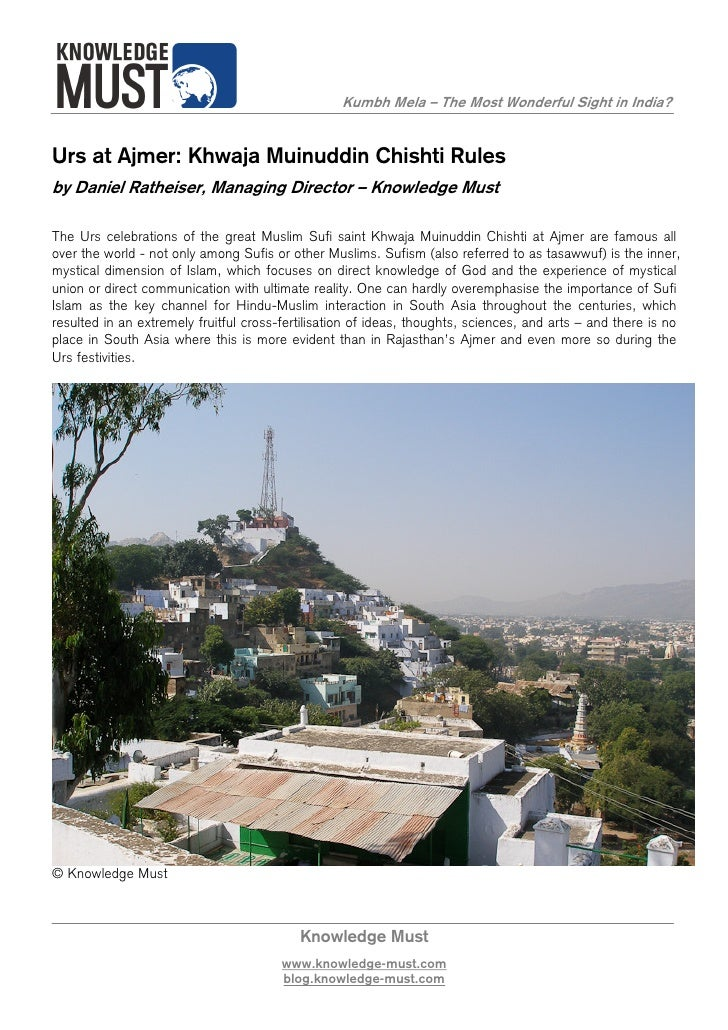 Urs at Ajmer - Knowledge Must