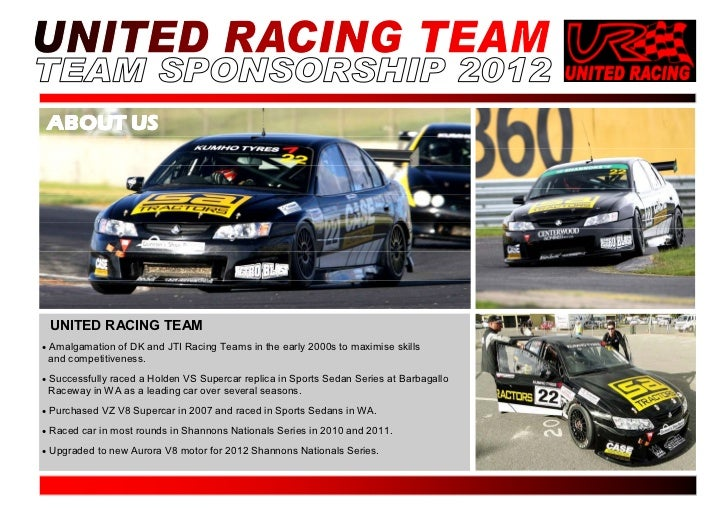 Racing Sponsorship Proposal Template. Racing Sponsorship Proposal ...