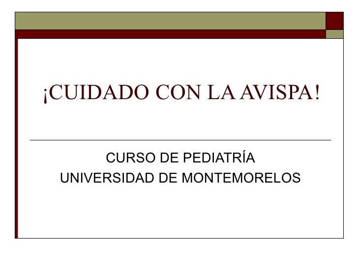 ¡CUIDADO CON LA AVISPA!      CURSO DE PEDIATRÍA UNIVERSIDAD DE MONTEMORELOS