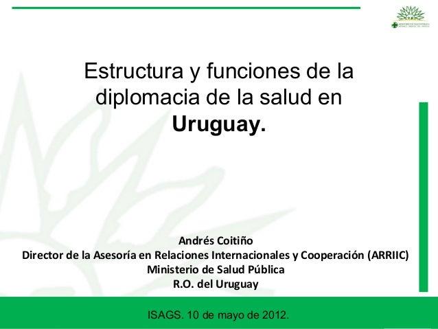 Estructura y funciones de la             diplomacia de la salud en                     Uruguay.                           ...