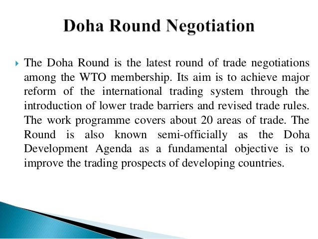 the doha round and wto essay