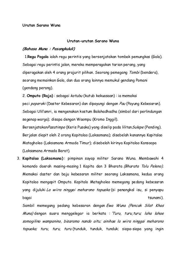 Urutan sarano kabupaten muna