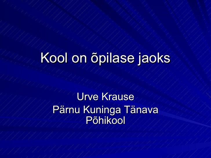 Urve Krause