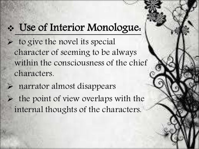 Interior Monologue Definition Of Interior Monologue By