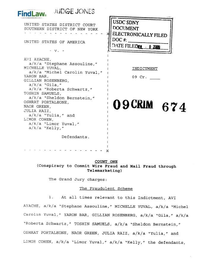 FindLaw | Telemarketing 'Boiler Room' Indictment