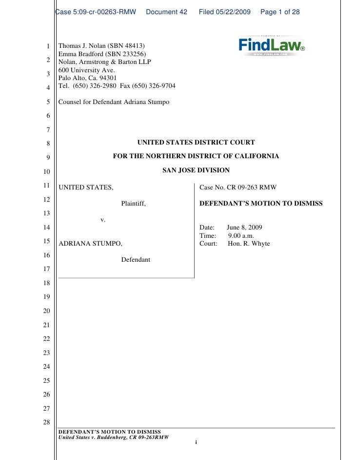 FindLaw | Motion To Dismiss Animal Enterprise Terrorism Act Case
