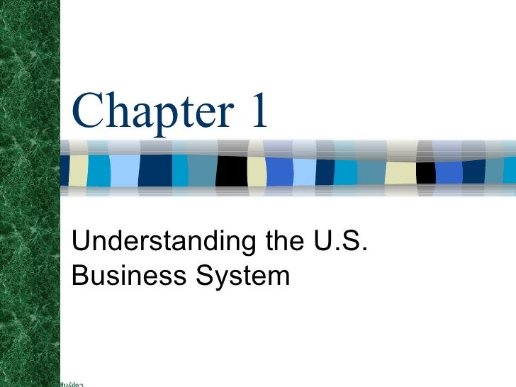 Chapter 1 Understanding the U.S. Business System
