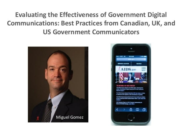 Evaluating the Effectiveness of Government Digital Communications: Best Practices from Canadian, UK, and US Government Com...