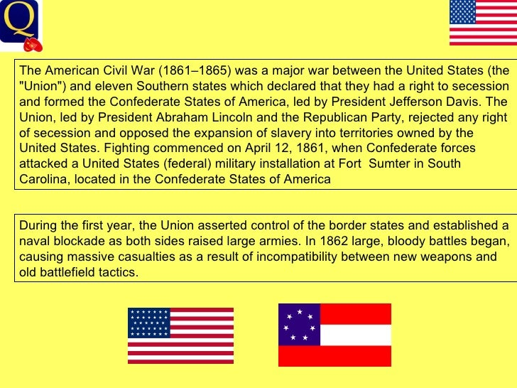 Essay on Civil War (1861-1865) Suggestions for improvement?