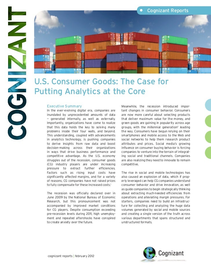U.S. Consumer Goods: The Case for Putting Analytics at the Core