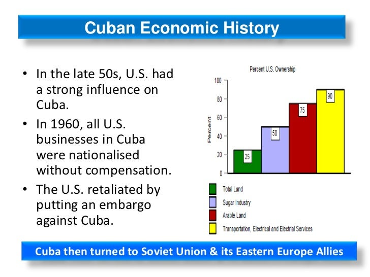 impact of the collapse of the soviet union on the cuban economy Since the soviet union collapsed in 1991, cuba's economic situation has been dire cuban exiles are waiting eagerly for castro's government to collapse or for castro to die of old age they hope that communism will be abolished and free trade and travel between the countries will resume.