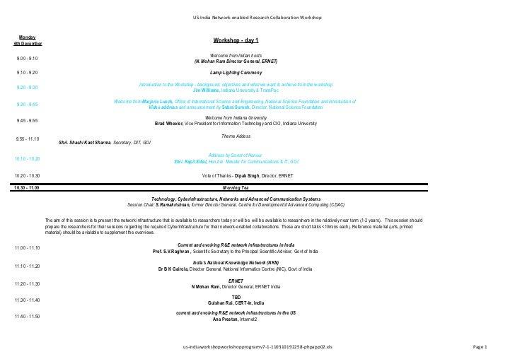 Us india workshop workshop program v 7.1