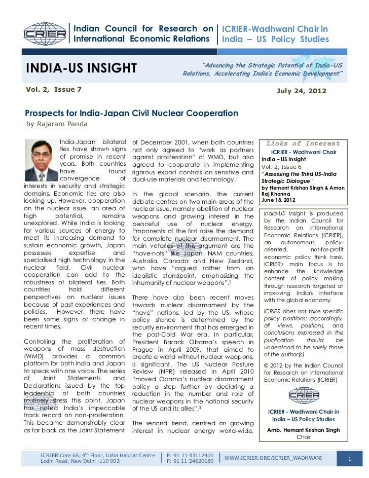 Indian Council for Research on                           ICRIER-Wadhwani Chair in                   International Economic...
