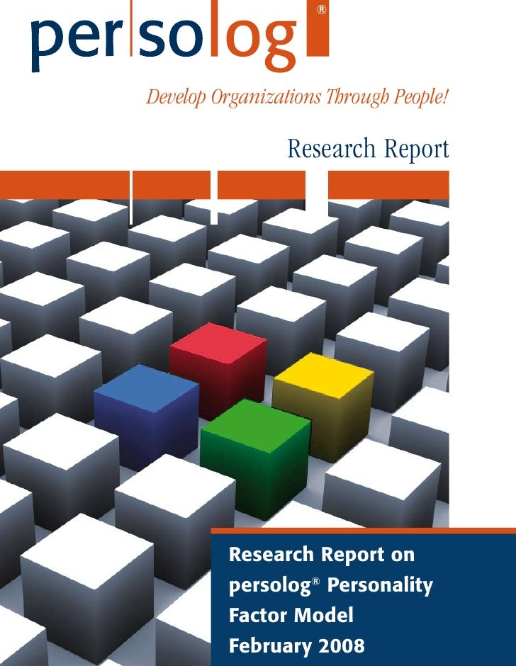 Develop Organizations Through People!                   Research Report               Research Report on           persolo...