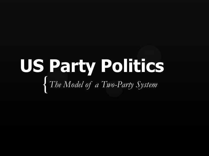 US Party Politics  { The Model of a Two-Party System