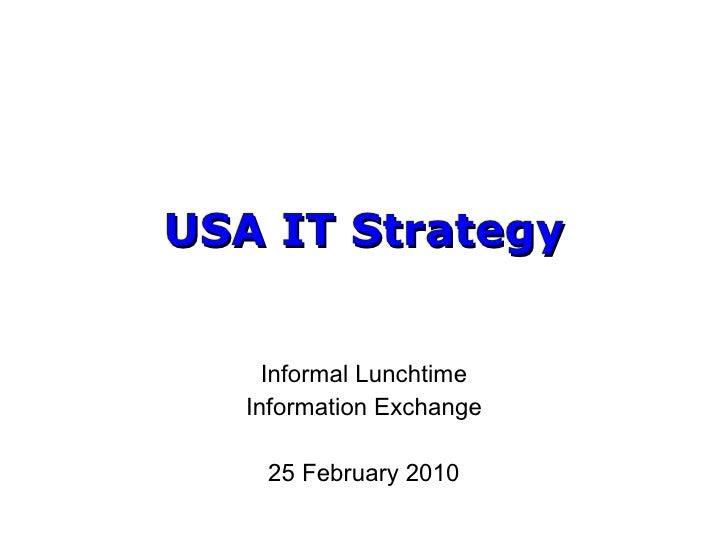 USA IT Strategy
