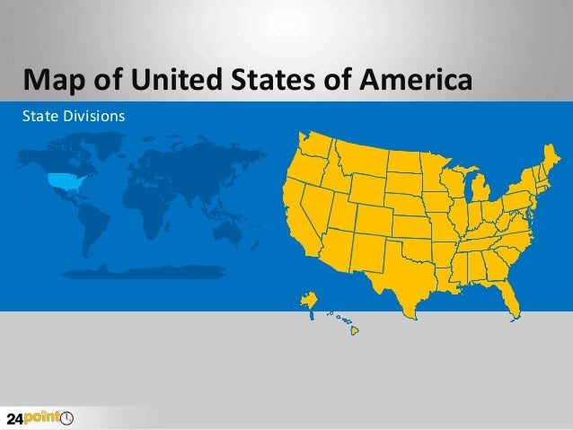 Map of United States of America State Divisions