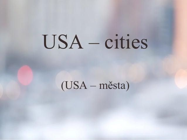 Usa - města