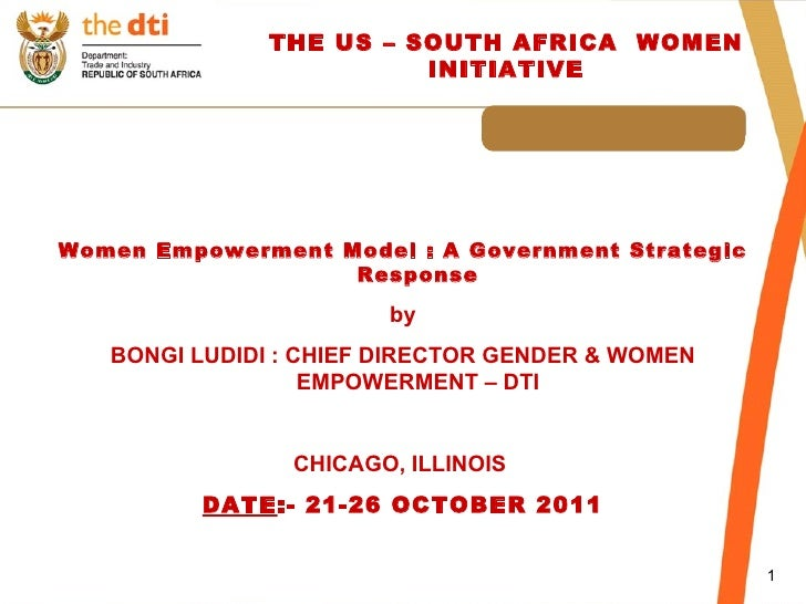 Women Empowerment Model : A Government Strategic Response