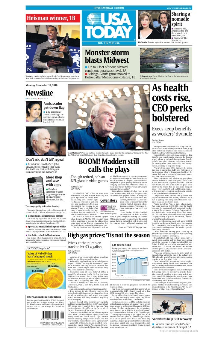 USA TODAY International Edition 2010.12.13