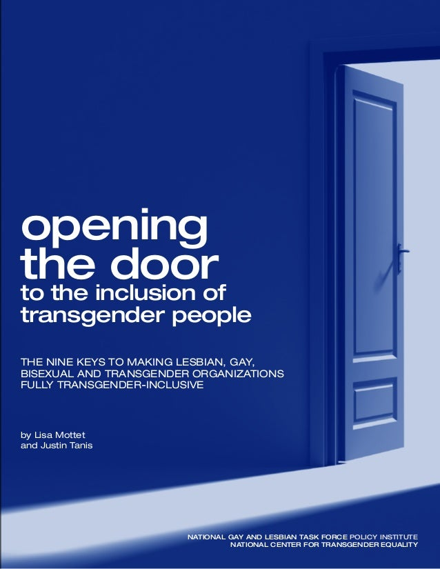 opening the door to inclusion of transgender people