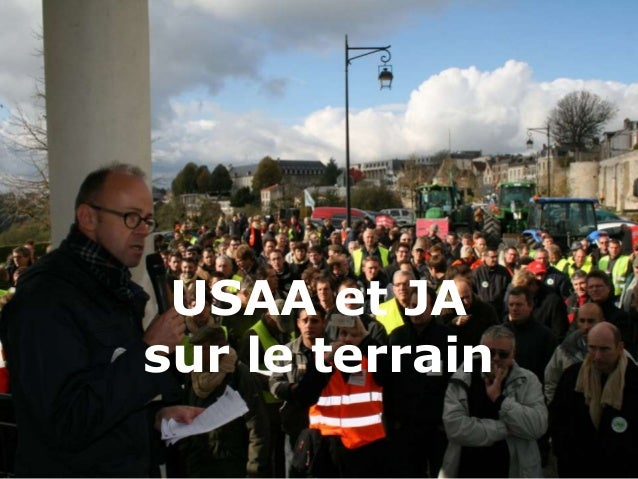 USAA et JA  sur le terrain