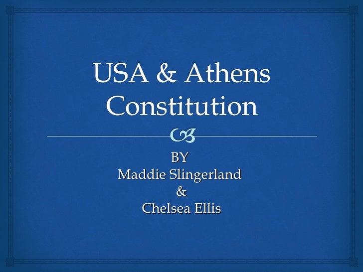 Usa & athens constitution