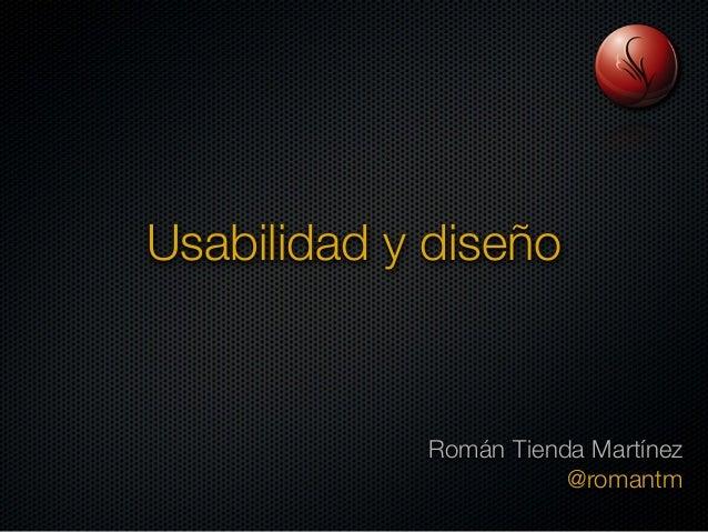 Usabilidad y diseño