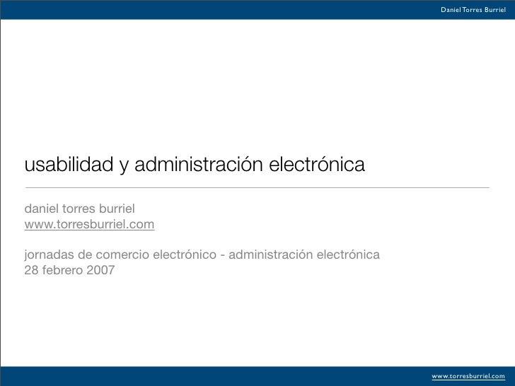 Usabilidad Y Admon Electronica