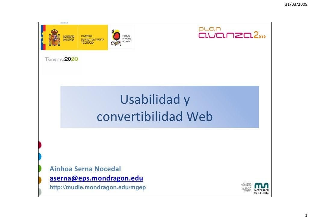 31/03/2009                       Usabilidady                   U bilid d                convertibilidadWeb   AinhoaSer...