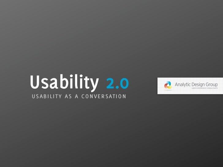 Usability 2.0