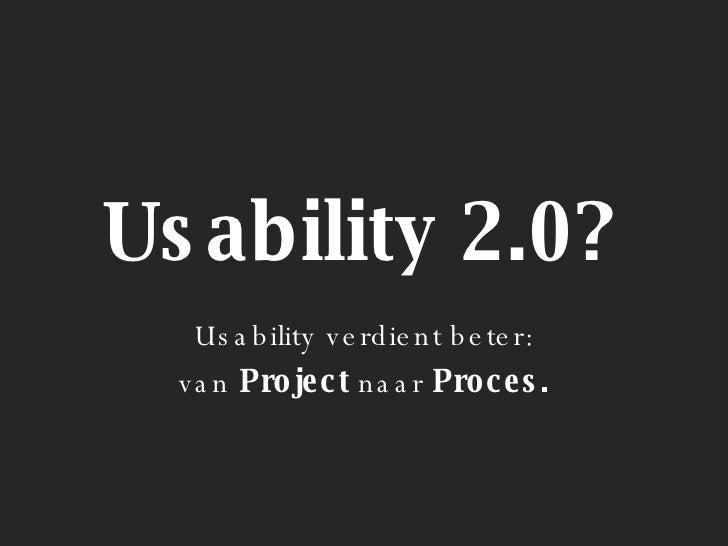 Usability 2.0 / Ruben Timmerman @ DME 2007