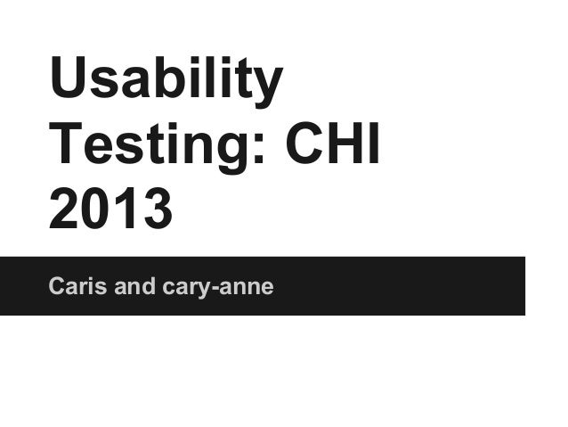 Usability final presentation