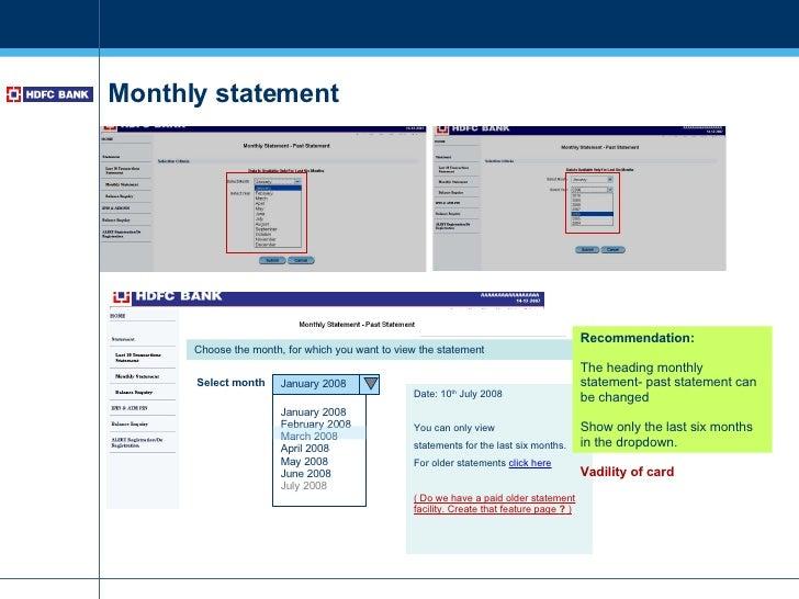 Hdfc forex card account statement