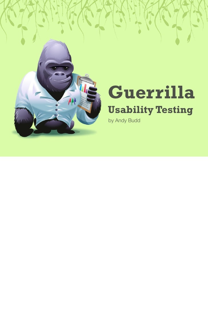 Guerrilla Usability Testing by Andy Budd