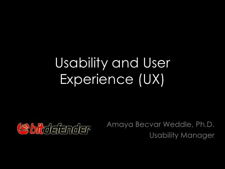 Usability and User Experience Training Seminar