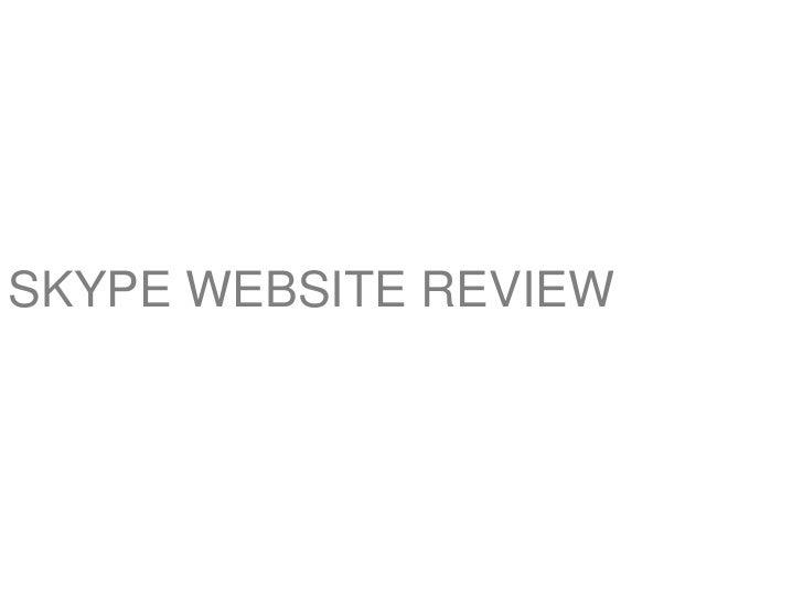 SKYPE WEBSITE REVIEW