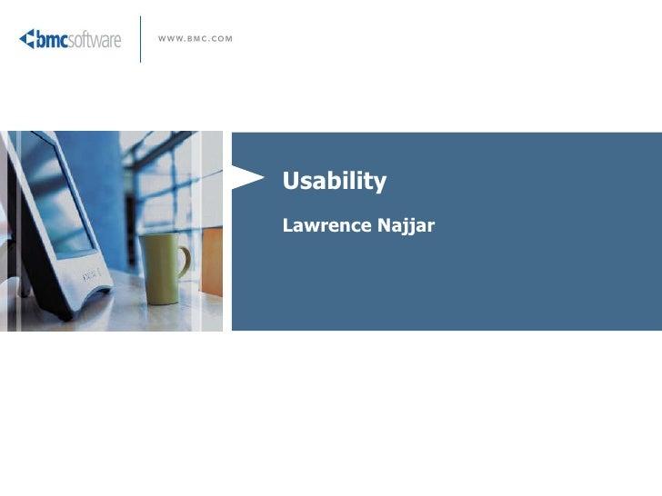 Usability Lawrence Najjar