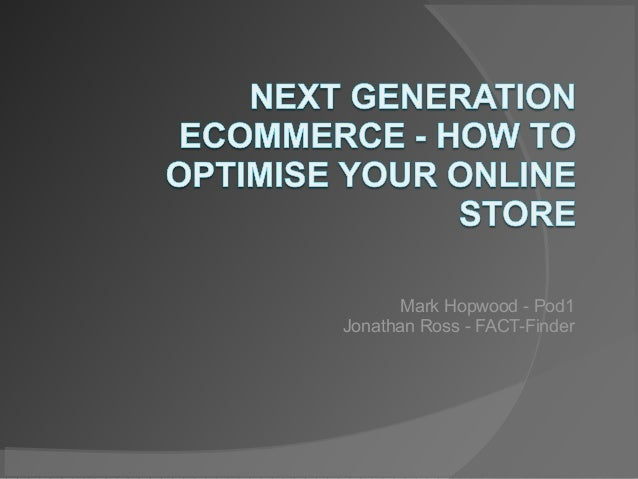 Presentation for eCommerce expo