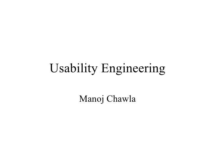 Usability Engineering