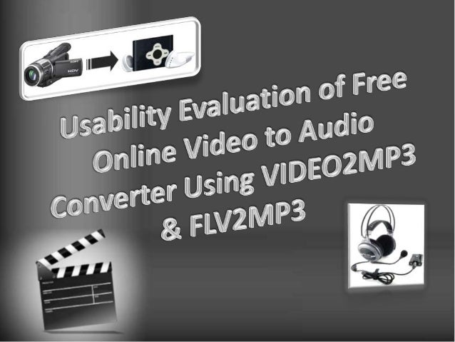 Usability evaluation of video to audio online converter ...